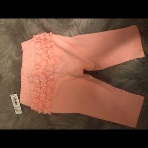 Old Navy pink ruffled leggings